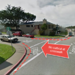 Intersection of Gateway drive and Westcliff court.