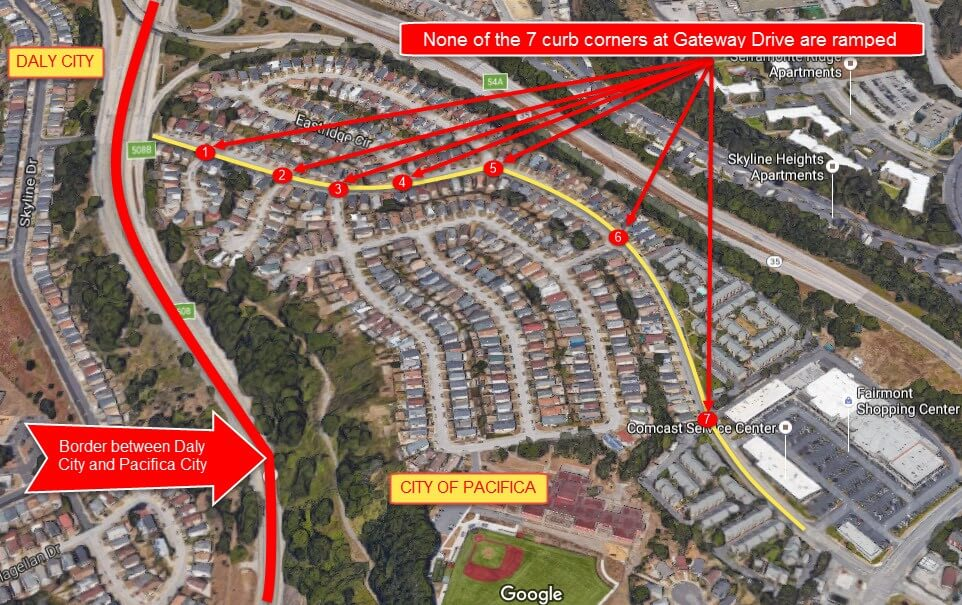 Gateway drive is the only route from Gio's home to Fairmont Shopping Center