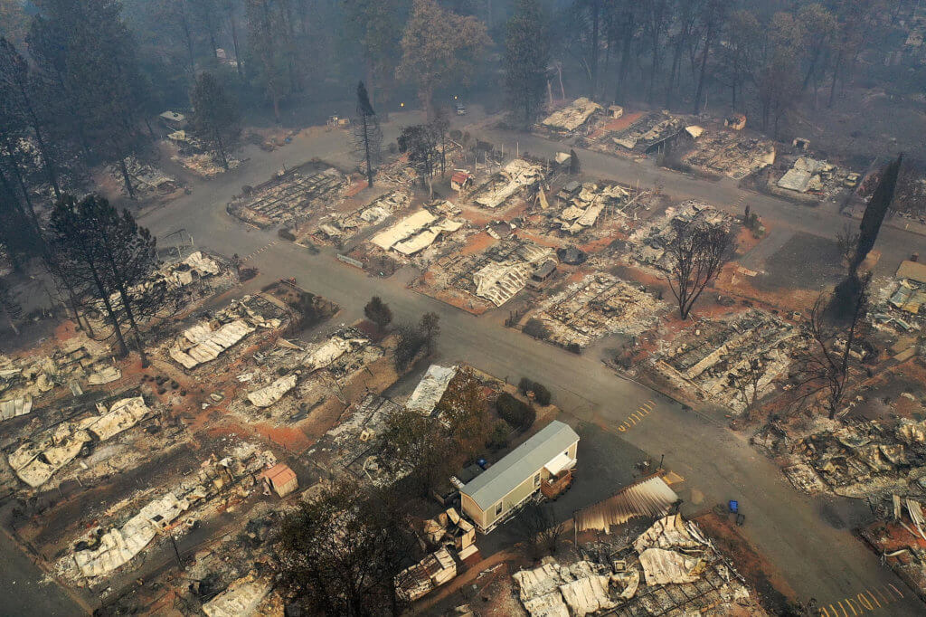 Image of burned neighborhood - Will Paradise, CA Rebuild after the Camp Fire
